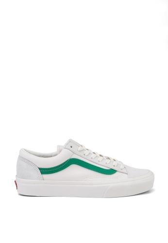 VANS white and green Style 36 Old Skool Sneakers 2113FSHF5353B3GS_1