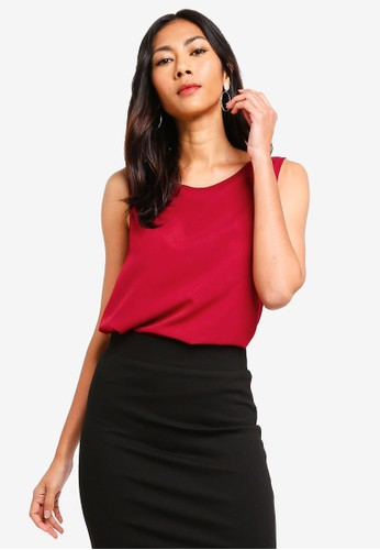 ZALORA BASICS red Basic Shell Top B46C5AA7AFD436GS_1