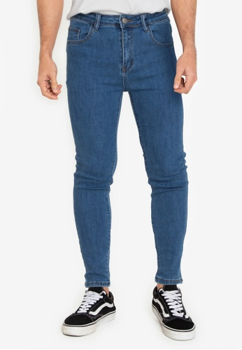 ZALORA BASICS blue Super Skinny Spray On Jeans 71753AAA4A0108GS_1