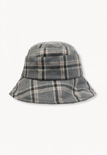 Buy Pomelo Plaid Bucket Hat - Light Grey Online on ZALORA Singapore be4723f3de0