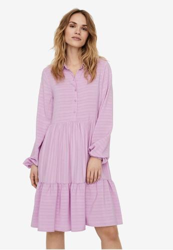 Vero Moda purple Drina Long Sleeve Short Dress 30742AA4FA7993GS_1
