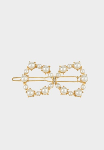 Pomelo multi Pearl Accent Oversized Hairclip - Gold 41D68AC84FB1CDGS_1