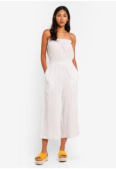 eb1a3293a95 Cotton On white Woven Callie Bandeau Jumpsuit 3FD3CAA610D387GS 1