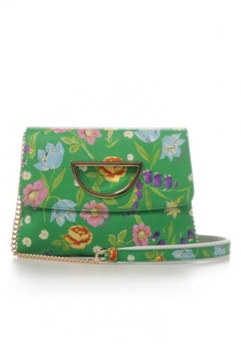 Samantha Thavasa green and multi Samantha Thavasa Hiking Flower Violet D Clutch 1E1D0AC2996AE7GS_1