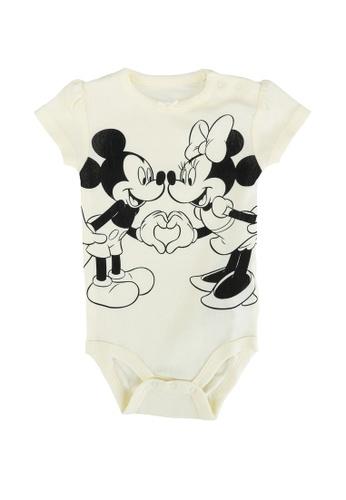 FOX Kids & Baby yellow Mickey and Minnie Short Sleeve Romper CB6B0KA1B5ED6CGS_1