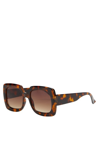 Mango brown Tortoiseshell Oversize Sunglasses 8AF8FGL5A3FE15GS_1