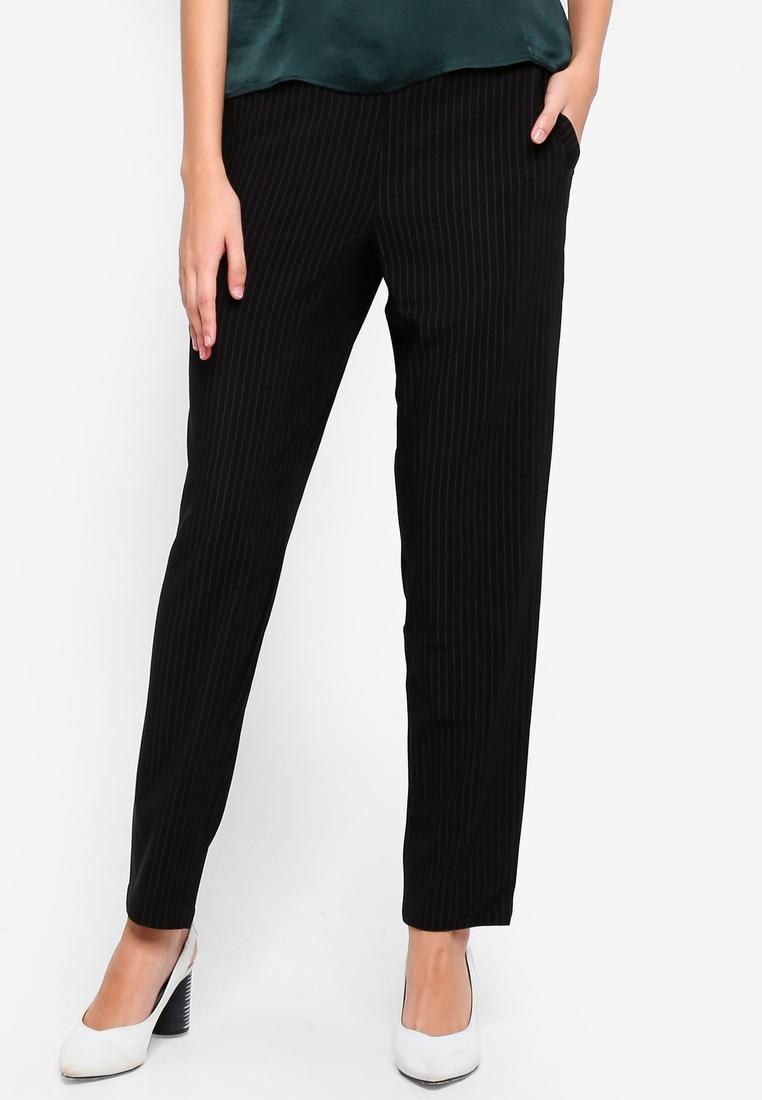 Stripes JACQUELINE White Pants Faith Black YONG DE UqBqpzA8