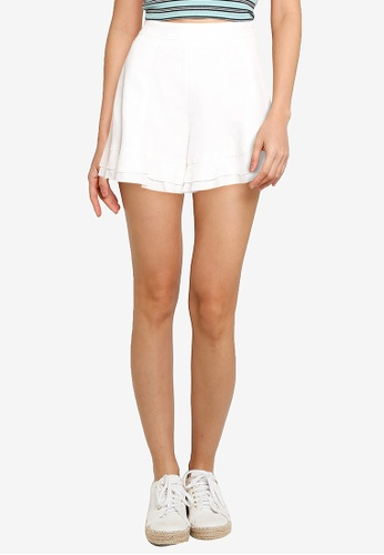 URBAN REVIVO white Casual Shorts 9FF82AA095AD72GS_1