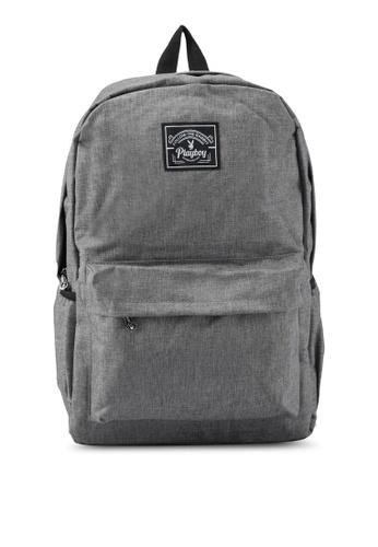 Playboy grey Playboy Casual Backpack PL371AC0SK0CMY_1