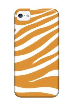 Orange Zebra Print Glossy Hard Case for iPhone 4,4s