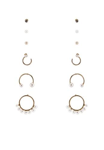 Call It Spring white Cristallina Earrings 4E5DBACCCCD6CDGS_1