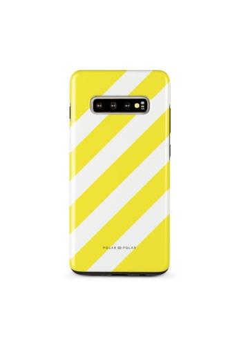 Polar Polar yellow Yellow Slash Dual-Layer Tough Case Glossy For Samsung Galaxy S10 Plus E56C5ACAA9AE4DGS_1