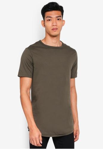 River Island 綠色 短袖圓領T恤 E5ADFAA707ACC6GS_1