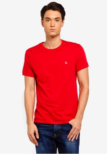 Jack Wills red Sandleford T-Shirt 26178AA8227995GS_1