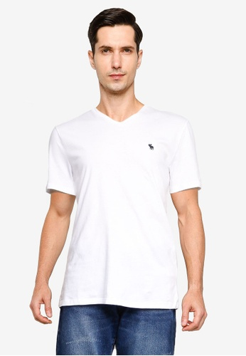 Abercrombie & Fitch white Short Sleeve Icon Tee 59C1DAA14D1DFBGS_1