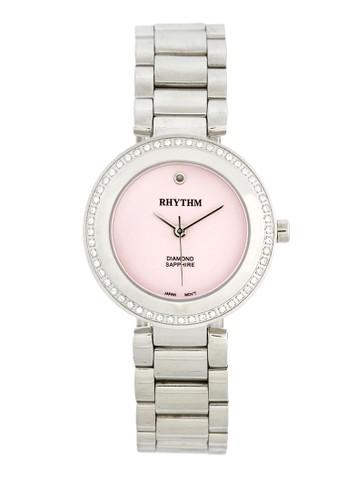Rhythm L1202S 02 - Jam Tangan Wanita - Stainless - Silver Pink