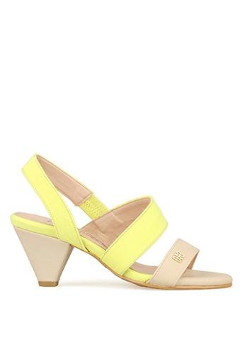 SPUR yellow Pastel strappy SP642SH01WZQHK_1