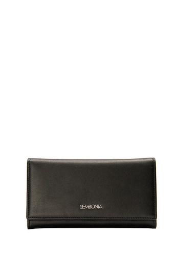 SEMBONIA black SEMBONIA Genuine Leather Continental Wallet (Black) 7A3D5AC69388F5GS_1