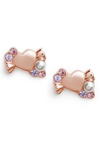 Olivia Burton Olivia Burton Candy Shop 18K Rose Gold Women's Earrings (OBJCDE08) 584C1ACBEFA17AGS_1