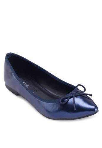 Maesprit outlet 旺角ddi 亮面蝴蝶結平底鞋, 女鞋, 鞋
