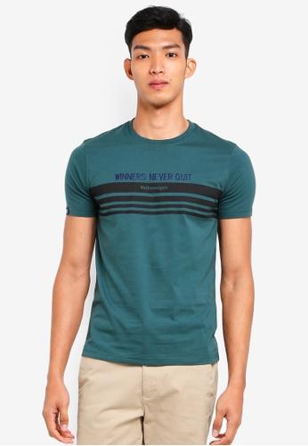 Volkswagen 綠色 短袖印花T恤 7FCDCAAA69D67EGS_1