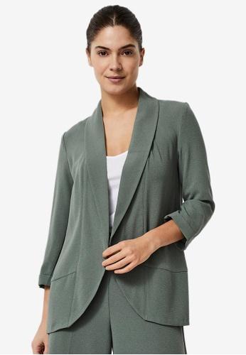 Vero Moda green Katey 3/4 Blazer 15386AA05DF73CGS_1