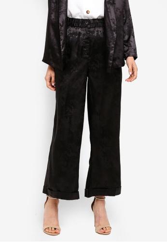 Zalia black Printed Wide Leg Pants 7F958AA5F4E540GS_1