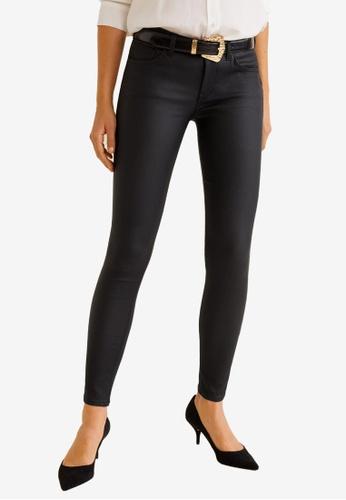 b264f5b0797bc Buy Mango Coated Kim Skinny Push-Up Jeans Online on ZALORA Singapore