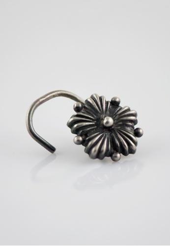 Aadyaa Singapore silver Nose-Pin Hibiscus - Pierced 7F021AC5E0F036GS_1