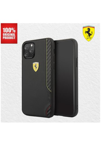 Ferrari black Casing iPhone 11 Pro On Track Italia PU Rubber Ferrari - Black 18F40ES3AD2F4AGS_1