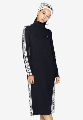 ekskluzywne oferty jakość ładne buty Side Taped Turtleneck Dress