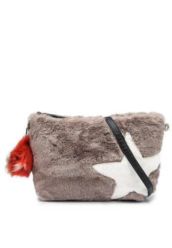 niko and ... grey Fur Crossbody Bag 6439AACD9E7AD6GS_1