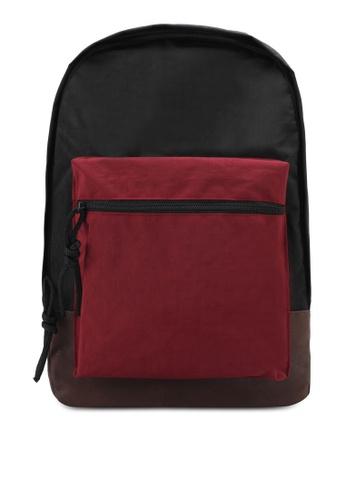 JAXON black Printed Backpack D0C4AZZ5BC7FBBGS_1