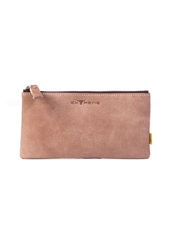 EXTREME brown Extreme Genuine Leather Phone Pouch 79641ACA9DC114GS_1