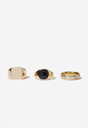 Cotton On gold Rings 3 Pack  D1414ACFC3CA3CGS_1