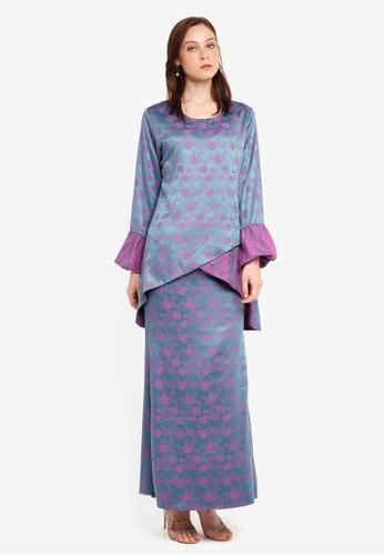 Aqeela Muslimah Wear blue Qhalisha Tulip Baju Kurung 7A614AAFB11A9BGS 1 efca60e37f