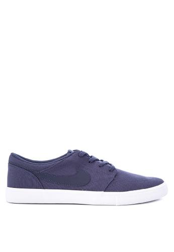 Nike blue Men's Nike SB Solarsoft Portmore II Skateboarding Shoes NI126SH0KPS5PH_1