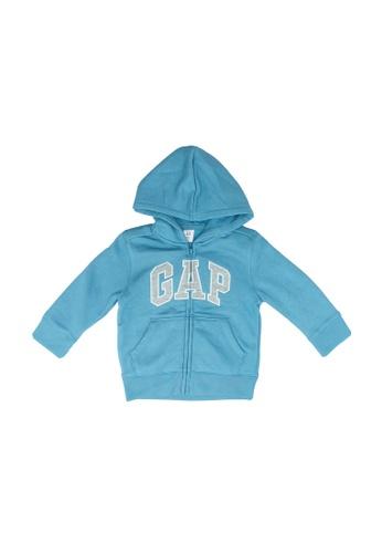 GAP blue Logo Full Zip Hoodie 6B702KA8D0369BGS_1