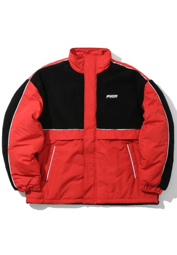 Fivecm red Fleece panel jacket AC9BCAA3AF9B9BGS_1