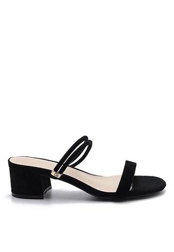 Twenty Eight Shoes black Mule Heels 320-8 C6991SHF4AE88DGS_1
