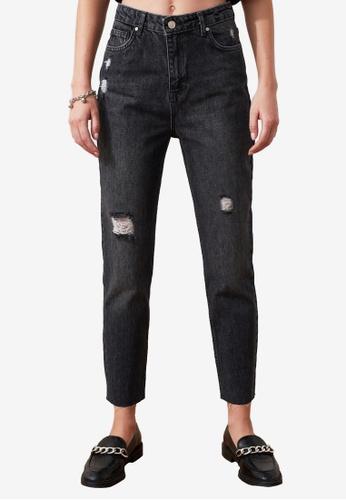 Trendyol black Denim Wash High Waist Mom Jeans 4A772AA78B75B1GS_1