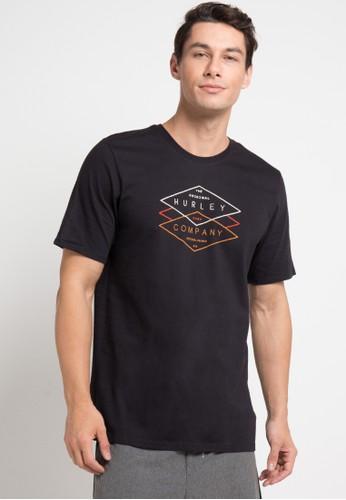 hurley black Cre Tuberide T-Shirt D5E31AA4B1ABACGS_1