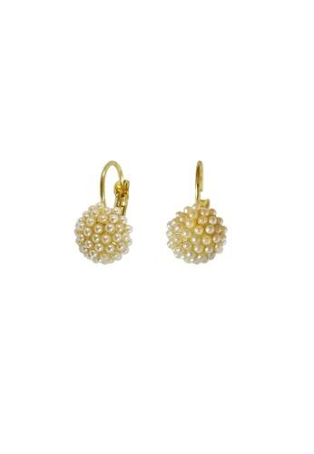 La Miina gold Renata Pearl Earrings 7CE2CAC0567C35GS_1