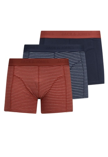 Jack & Jones navy Hamborg Trunks 3-Pack 4472FUS1D7BFFDGS_1