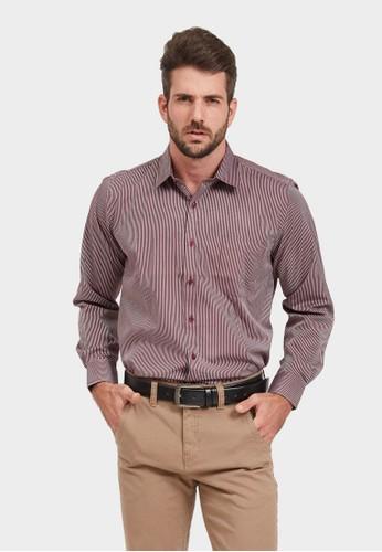 ARAMIS red ARAMIS Long Sleeve Stripe Shirt 60211 CA845AA39D42A7GS_1