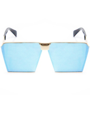 Amora Scarlett Roaring Beast Oversized Blue Transition Gold Frame Eyewear AM058AC61EHIMY_1