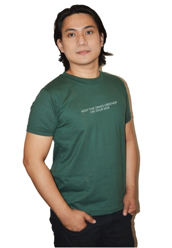 Myriad Print Concepts green Minimalist Statement Shirt (Green) - Keep The Grass Greener On Your Side ACBD8AA25684AFGS_1