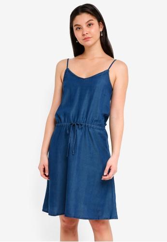 ICHI blue Gelta Dress 531DAAACC1F31DGS_1
