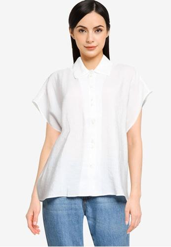 Mango white Buttoned Flowy Shirt F0F7EAAF170480GS_1