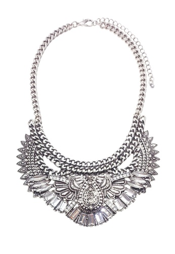 LUCCACAL silver Loria Statement Necklace C21D1AC58368F6GS_1